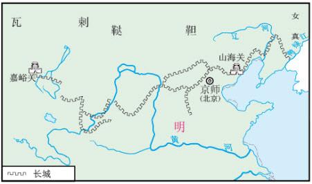中国长城手绘地图