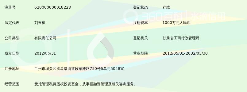 甘肃博汇私募股权投资基金管理有限公司_360