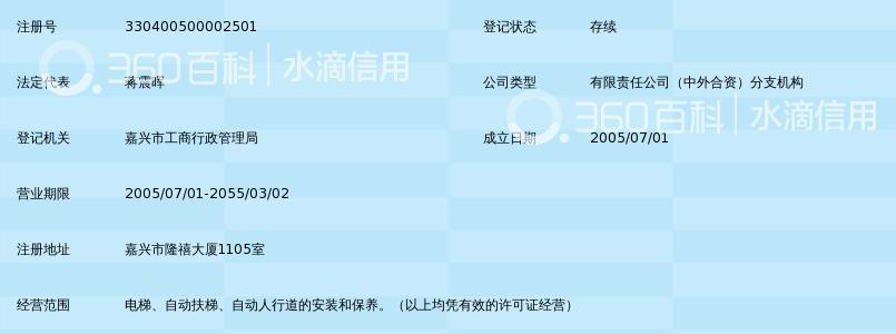巨人通力电梯有限公司嘉兴分公司_360百科