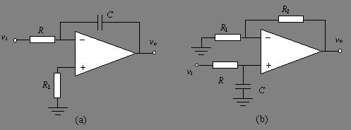 (1)一阶低通butterworth滤波电路 下图a和b是用运算放大器设计的两种
