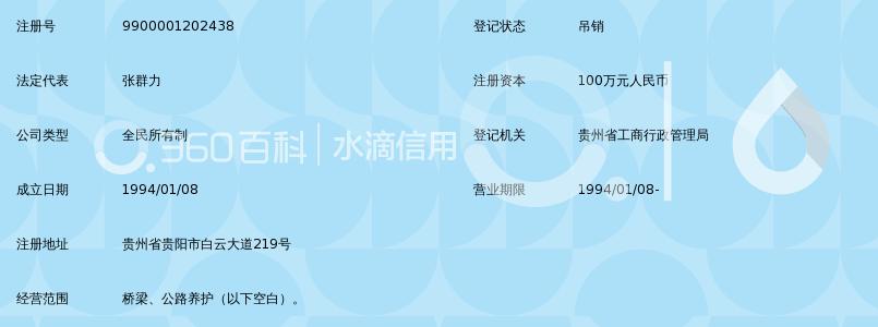 贵州省公路工程总公司机械化分公司
