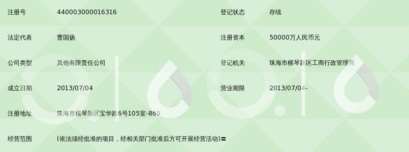 珠海横琴新区华斯达克股权投资基金管理有限公